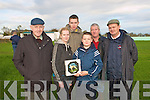 Nominator's Trophy: Aaron Mournane presenting the Frank Mournane Trophy for Junior nominator to Ailiana O,Connor at Lixnaw coursing on Sunday last