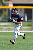 Minnesota Twins Tanner English (4) during practice before a minor league spring training game against the Baltimore Orioles on March 28, 2015 at the Buck O'Neil Complex in Sarasota, Florida.  (Mike Janes/Four Seam Images)