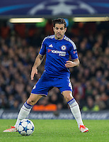 Cesc Fabregas of Chelsea on the ball during the UEFA Champions League Group G match between Chelsea and Dynamo Kyiv at Stamford Bridge, London, England on 4 November 2015. Photo by Andy Rowland.