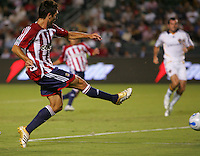 CD Chivas USA forward Ante Rozov (9) scores the first goal of the game in the 23rd minute. CD Chivas USA defeated the LA Galaxy in the Super Clasico 3-0 at the Home Depot Center in Carson, CA, Thursday, September 13, 2007.