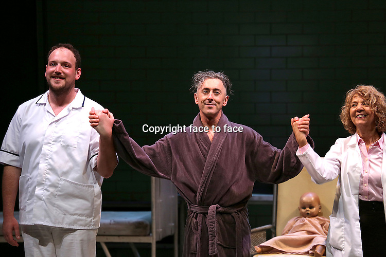 Brendan Titley, Alan Cumming & Jenny Sterlin during the Broadway Opening Night Performance Curtain Call for 'MACBETH' starring Alan Cumming at The Barrymore Theatre in New York City on 4/21/2013....Credit: McBride/face to face
