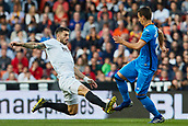 17th March 2019, Mestalla Stadium, Valencia, Spain; La Liga football, Valencia versus Getafe; Piccini of Valencia CF challenges Nemanja Maksimovic of Getafe