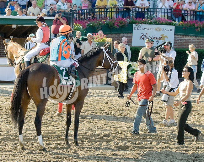 Fleet Indian after winning The 2006 Grade 2 Delaware Handicap