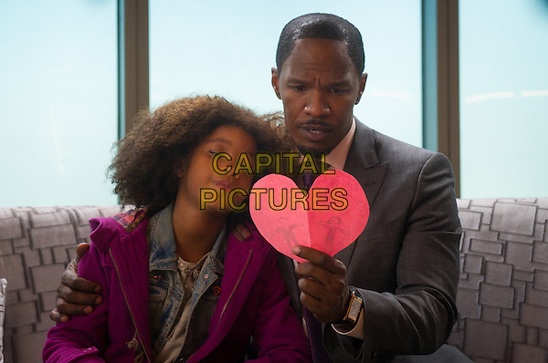 Quvenzhane Wallis, Jamie Foxx<br /> in Annie (2014)<br /> *Filmstill - Editorial Use Only*<br /> CAP/FB<br /> Image supplied by Capital Pictures