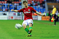 Tuesday, 7 May 2013<br /> <br /> Pictured: Ben Davies of Swansea City <br /> <br /> Re: Barclays Premier League Wigan Athletic v Swansea City FC  at the DW Stadium, Wigan