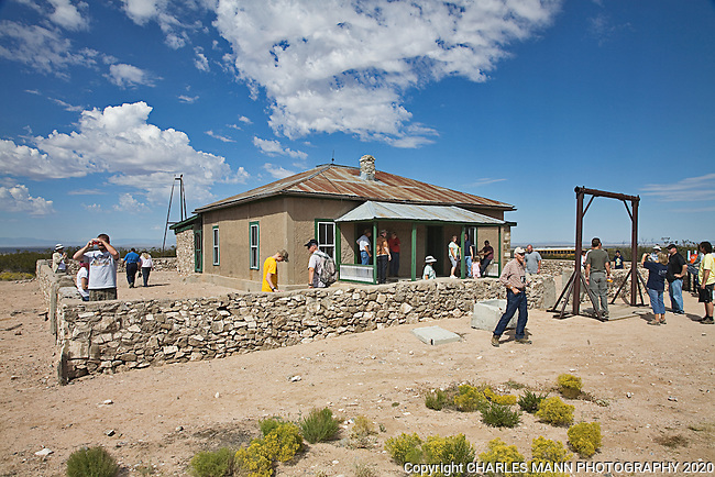 The TrinityTest Site, where the first atomic bomb was exploded on July 16, 1945, is open to the public on the first Saturday of April and October.