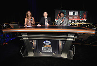 LAS VEGAS - NOVEMBER 20:  Kate Abdo,  Ray Mancini and Shawn Porter at the press conference for the November 23 fight on the Fox Sports PBC Pay-Per-View fight night on September 20, 2019 in. Las Vegas, Nevada. (Photo by Scott Kirkland/Fox Sports/PictureGroup)