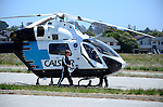 Cal Star helicopter at Seacliff State Beach
