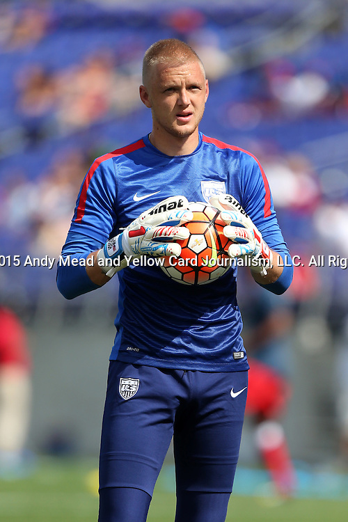 18 July 2015: William Yarbrough (USA). The United States Men's National Team played the Cuba Men's National Team at M&T Bank Stadium in Baltimore, Maryland in a 2015 CONCACAF Gold Cup quarterfinal match. The U.S. won the game 6-0.