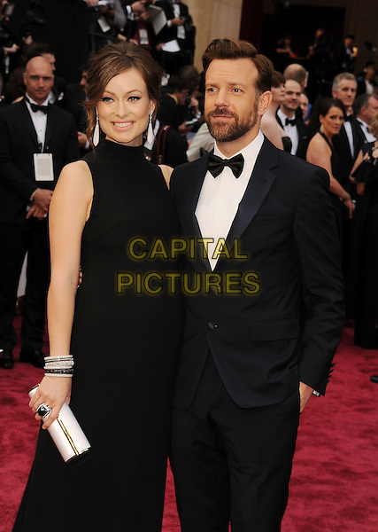 HOLLYWOOD, CA- MARCH 02: Actress Olivia Wilde (L) and actor Jason Sudeikis attend the 86th Annual Academy Awards held at Hollywood &amp; Highland Center on March 2, 2014 in Hollywood, California.<br /> CAP/ROT/TM<br /> &copy;Tony Michaels/Roth Stock/Capital Pictures