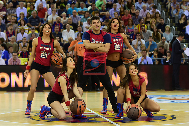 League ACB-ENDESA 2015/2016. <br /> Play-Off Final - Game 1.<br /> FC Barcelona Lassa vs Real Madrid: 100-99.<br /> Dream Cheers.