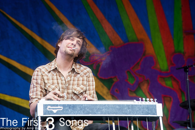 Ed Williams  of The Revivalists performs during the 2015 New Orleans Jazz & Heritage Festival in New Orleans, Louisiana.