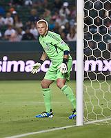 CARSON, CA – June 18, 2011: FC Dallas goalie Kevin Hartman (1)  during the match between Chivas USA and FC Dallas at the Home Depot Center in Carson, California. Final score Chivas USA 1, FC Dallas 2.