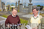 REGISTERS: Patrick Lynch and Gabriel McNamara of the Tarbert Historical Society which has compiled a register of all headstone inscriptions in the seven graveyard in the area.