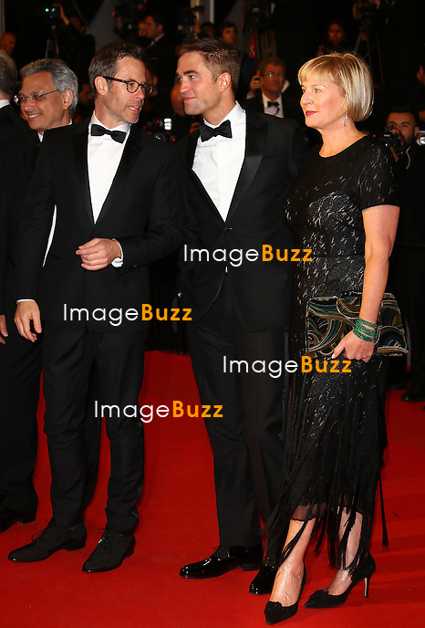 CPE/ David Linde, Robert Pattinson, David Michod and Guy Pearce attend 'The Rover' Premiere at the 67th Annual Cannes Film Festival on May 18, 2014 in Cannes, France