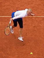 Paris, France, 01 June, 2016, Tennis, Roland Garros, Womans quarter final Kiki Bertens in her match against Timea Bacsinszky (SUI)<br /> Photo: Henk Koster/tennisimages.com