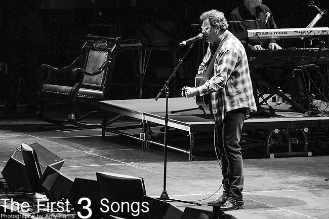 "Vince Gill performs at the George Jones Tribute Concert ""Playin' Possum: The Final No Show"" at Bridgestone Arena in Nashville, TN"