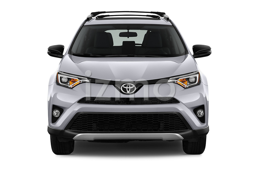 Car photography straight front view of a 2016 Toyota RAV4 SE 5 Door SUV Front View