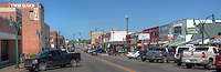 Historic downtown Claremore Oklahoma, home of Will Rogers, on Route 66.