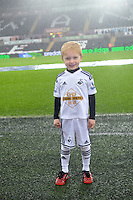 Pictured: Friday 26 December 2014<br /> Re: Premier League, Swansea City FC v Aston Villa at the Liberty Stadium, Swansea, south Wales, UK.<br /> <br /> Mascots pictured before kick off