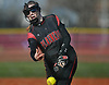 Alexa Whitenack #5 of Plainedge delivers to the plate in the top of the fourth inning of a Nassau County varsity softball game against Seaford at Schwarting Elementary School in Massapequa on Friday, April 6, 2018.