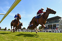 Winner of The Smith & Williamson British EBF Fillies' Handicap (Class 3)   Time Change ridden by Richard Kingscote and trained by Ralph Beckett  during Afternoon Racing at Salisbury Racecourse on 17th May 2018