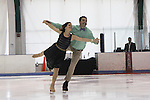 All Children's Rebecca Budig and Douglas Webster (artistic director) are hosts and also skated at Ice Theatre of New York's Celeb Skate 2013 on June 9, 2013 at the Sky Rink at Chelsea Piers, New York City, New York. (Photo by Sue Coflin/Max Photos)