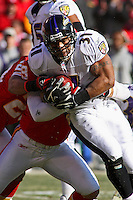Ravens RB Jamal Lewis runs for five yards on this play in the second quarter against the Chiefs at Arrowhead Stadium in Kansas City, Missouri on December 10, 2006. Baltimore won 20-10.
