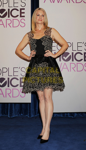Monica Potter.The People's Choice Awards 2013 Nomination Announcements at The Paley Center for Media in Beverly Hills, California, USA. .November 15th, 2012.full length black lace straps hands on hips dress.CAP/ROT/TM.©Tony Michaels/Roth Stock/Capital Pictures