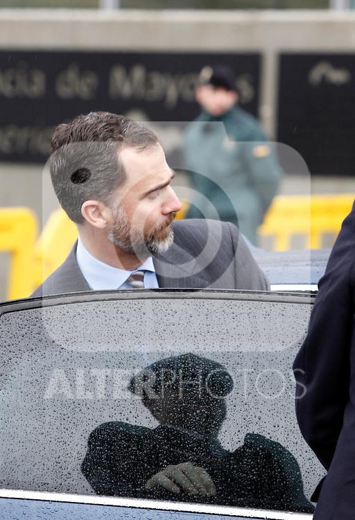 FELECHOSA, SPAIN - JANUARY 24: Prince Felipe of Spain and Princess Letizia of Spain visit 'La Mineria' nursing home for the elderly on January 24, 2013 in Felechosa, Spain. (ALTERPHOTOS/ Víctor J blanco)