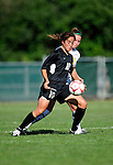 28 August 2009: University of Montreal Carabins' forward Veronique Laverdiere in action against the University of Vermont Catamounts during the 2009 TD Bank Women's Soccer Classic at Centennial Field in Burlington, Vermont. The Catamounts defeated the Carabins 3-2 in sudden death overtime. Mandatory Photo Credit: Ed Wolfstein Photo