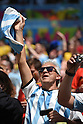 Argentina fans (ARG),<br /> JULY 5, 2014 - Football / Soccer :<br /> FIFA World Cup Brazil 2014 Quarter-finals match between Argentina 1-0 Belgium at Estadio Nacional in Brasilia, Brazil. (Photo by FAR EAST PRESS/AFLO)