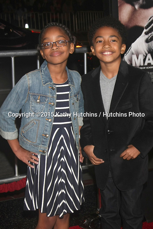 """LOS ANGELES - JAN 20:  Marsai Martin, Miles Brown at the """"Manny"""" Los Angeles Premiere at a TCL Chinese Theater on January 20, 2015 in Los Angeles, CA"""