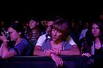 Esmeralda Kosmatopoulos and Chris Simon listen to YOSHIMIO & Hisham Akira & Ryan Sawyer perform.