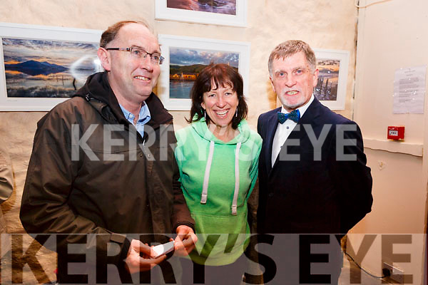 Mike and Mish O'Donoghue of Killarney with Walker Ewart (ADCI Adjudicator) at the opening night of the Kerry Drama Festival in the Ivy Leaf in Castleisland on Sunday night.