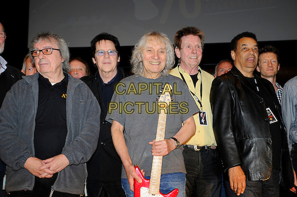 LONDON, ENGLAND - March 1: Bill Wyman, Shakin' Stevens, Albert Lee, Joe Brown and Gary US Bonds at the Albert Lee 70th Birthday Celebration concert at Cadogan Hall on March 1, 2014 in London, England<br /> CAP/MAR<br /> &copy; Martin Harris/Capital Pictures