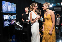 Laura Dern and Greta Gerwig, Oscar&reg; nominee, chat backstage during the live ABC Telecast of The 90th Oscars&reg; at the Dolby&reg; Theatre in Hollywood, CA on Sunday, March 4, 2018.<br /> *Editorial Use Only*<br /> CAP/PLF/AMPAS<br /> Supplied by Capital Pictures