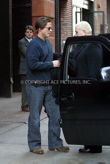 """***EXCLUSIVE***..Actor Rob Lowe pictured outside his hotel in New York. Lowe, who starred as presidential speechwriter Sam Seaborn on """"The West Wing"""" for four years, decided to leave the NBC political drama this season in a highly publicized salary dispute with the show's producers. But not to worry about Rob -- TNT has signed Lowe to star in its miniseries remake of the Stephen King novel """"Salem's Lot,"""" playing a journalist who returns to his New England hometown to find that it has become infested with vampires. New York, March 5, 2003. Please byline: Alecsey Boldeskul/NY Photo Press.   ..*PAY-PER-USE*      ....NY Photo Press:  ..phone (646) 267-6913;   ..e-mail: info@nyphotopress.com"""