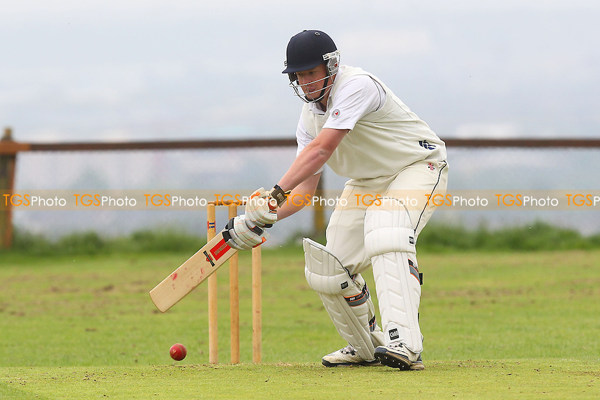 S Jackson in batting action for Havering - Havering-atte-Bower CC vs Bentley CC - Mid-Essex Cricket League - 01/06/13 - MANDATORY CREDIT: Gavin Ellis/TGSPHOTO - Self billing applies where appropriate - 0845 094 6026 - contact@tgsphoto.co.uk - NO UNPAID USE
