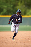New York Yankees Welfrin Mateo (34) during a minor league Spring Training game against the Pittsburgh Pirates on March 26, 2016 at Pirate City in Bradenton, Florida.  (Mike Janes/Four Seam Images)