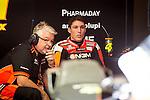 The rider Aleix Espargaro in the box during the MotoGP Grand Prix Itala in Mugello, Florence. 30/05/2014. Samuel de Roman/Photocall3000.