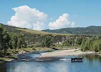 The Yampa River along Highway 40 near Hayden, Colorado, Friday, August 14, 2015.<br /> <br /> Photo by Matt Nager