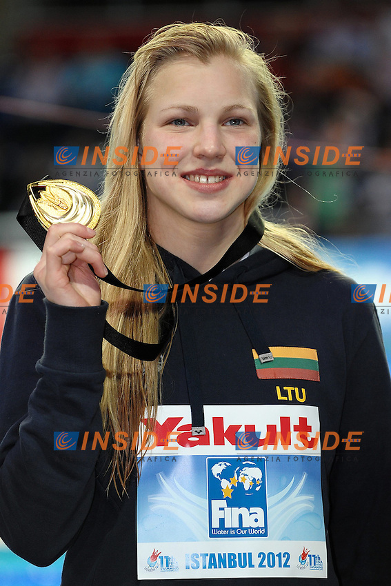 Ruta Meilutyte LTU Gold medal Women's 50m Breaststroke .Istanbul 13/12/2012 Sinan Erdem Dome.World Swimming Championships Short course 25m Nuoto Istanbul.Foto Andrea Staccioli Insidefoto