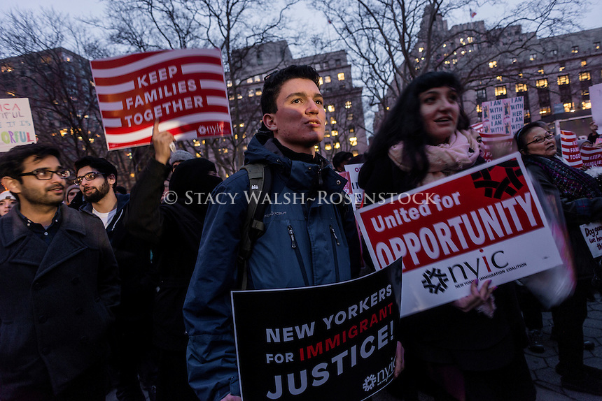 New York, NY 1 February 2017 - No Ban No Wall Marxh for Muslims and Allies. Muslims and immigration advocates rally in Foley Square for a march to ICE (Immigration and Customs Enforcement) in the wake of President Trump's travel ban against seven middle eastern nations. ©Stacy Walsh Rosenstock/Alamy Live News