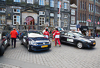 The Netherlands, Den Bosch, 16.04.2014. Fed Cup Netherlands-Japan, official cars at City Hall<br /> Photo:Tennisimages/Henk Koster