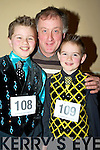 Prionsias, Mairtin and Liam O'Cathasaigh, Lispole, at the Oireachtas Rince na hE?ireann All Ireland dancing competitions in the INEC, Killarney on Saturday.