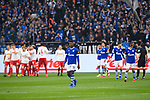 16.03.2019, VELTINS Arena, Gelsenkirchen, Deutschland, GER, 1. FBL, FC Schalke 04 vs. RB Leipzig<br /> <br /> DFL REGULATIONS PROHIBIT ANY USE OF PHOTOGRAPHS AS IMAGE SEQUENCES AND/OR QUASI-VIDEO.<br /> <br /> im Bild Schalke um Ken Martin Gipson (#36 Leipzig) enttäuscht / enttaeuscht / traurig nach 0-1 Leipzig<br /> <br /> Foto © nordphoto / Kurth