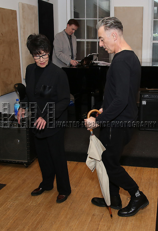Alan Cumming and Chita Rivera in Rehearsal for 'Chita: Nowadays'  at Michiko Studio on October 27, 2016 in New York City.