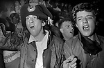 New Romantics watching Spandau Ballet  perform live on stage at Heaven nightclub Charing Cross London 1980.