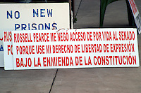 AJ Alexander - One of Carlos Galindo's signs at the Arizona State Capitol on Friday March 18, 2011..Photo by AJ Alexander .All Rights Reserved